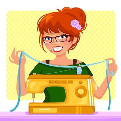 Spaß an der Nähmaschine