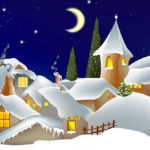 Stadt im Schnee