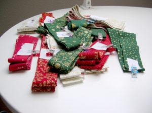 Stoffe für Weihnachtsstern