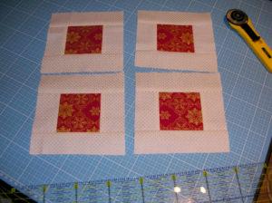 vier kleine Quadrate