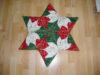 Weihnachtsstern auf Papier genäht