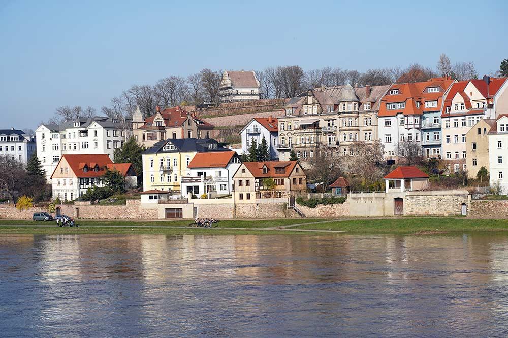 An der Elbe in Meißen