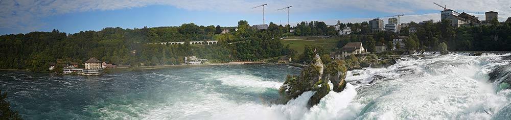Panorama am Rheinfall